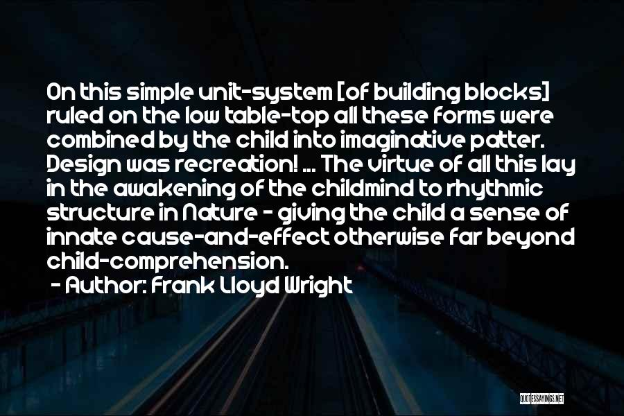 Child Creativity Quotes By Frank Lloyd Wright