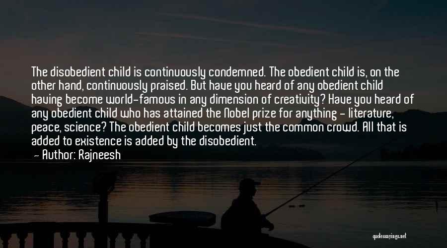 Child Creativity Quotes By Rajneesh