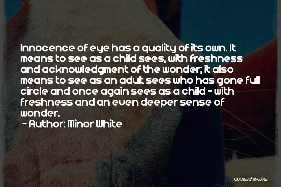Child Innocence Quotes By Minor White