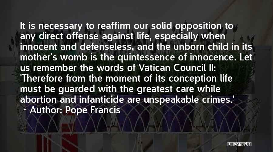 Child Innocence Quotes By Pope Francis