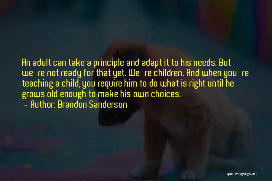 Child Teaching Quotes By Brandon Sanderson