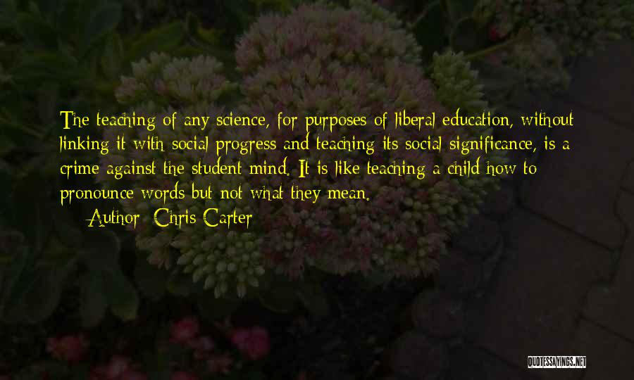 Child Teaching Quotes By Chris Carter