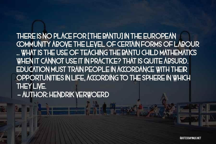 Child Teaching Quotes By Hendrik Verwoerd