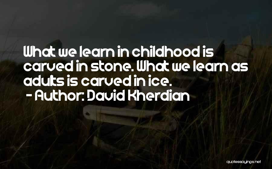 Childhood Education Quotes By David Kherdian