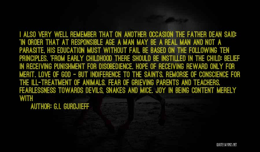 Childhood Education Quotes By G.I. Gurdjieff