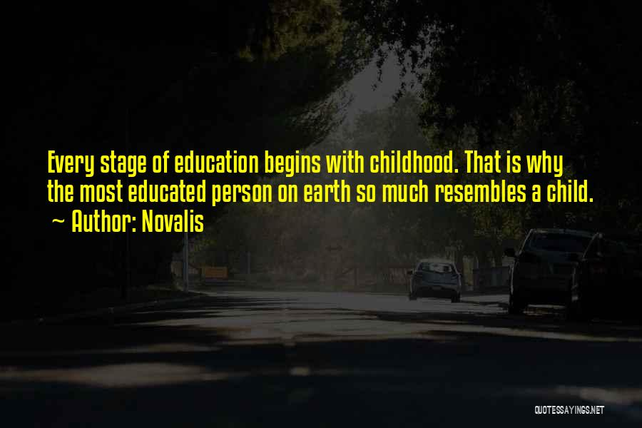 Childhood Education Quotes By Novalis