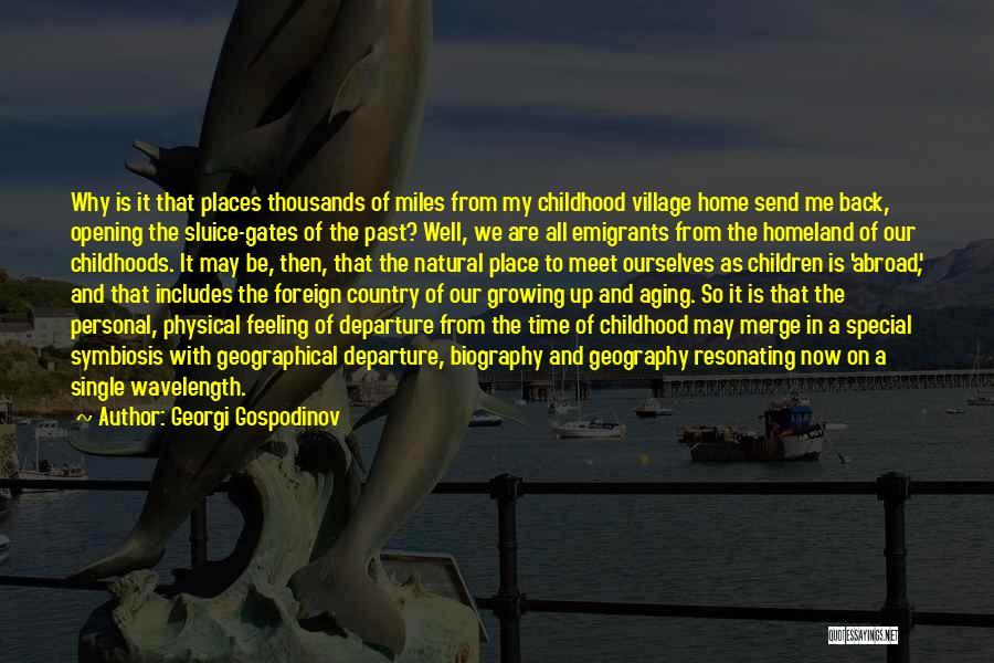 Childhood Growing Up Quotes By Georgi Gospodinov