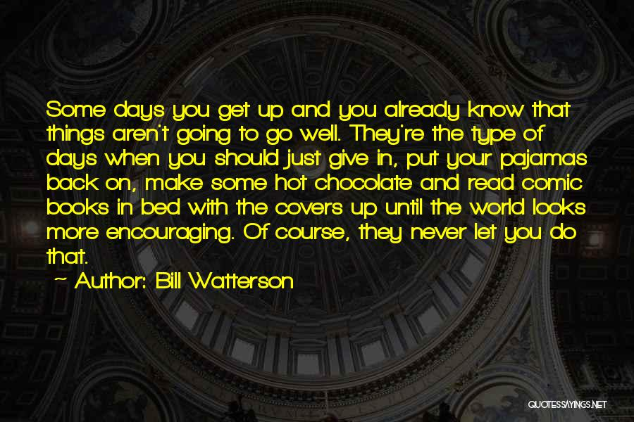 Chocolate And Books Quotes By Bill Watterson