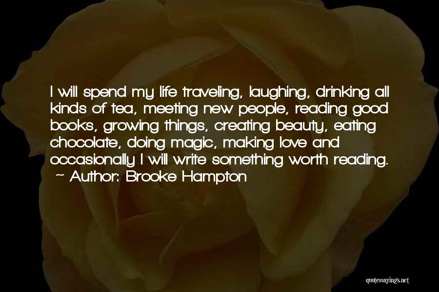 Chocolate And Books Quotes By Brooke Hampton