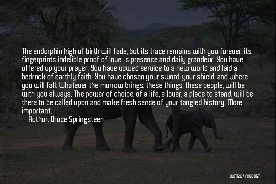 Choice And Power Quotes By Bruce Springsteen