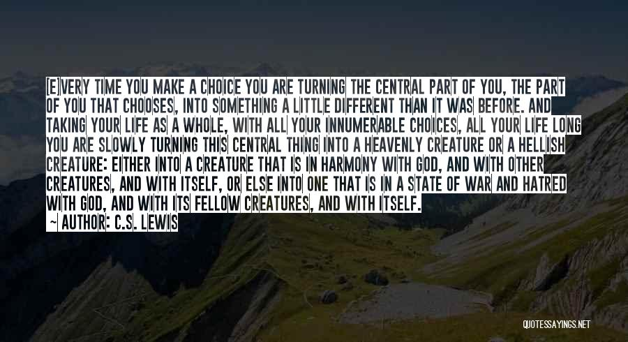 Choice And Power Quotes By C.S. Lewis