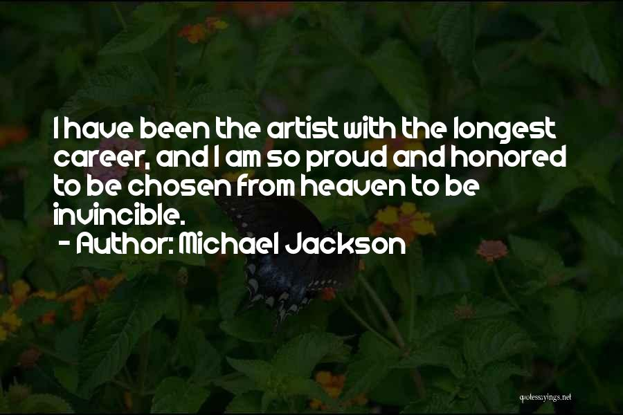 Chosen Career Quotes By Michael Jackson