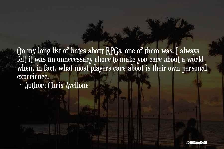 Chris Avellone Quotes 1411216