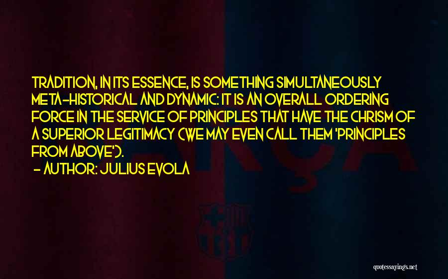 Chrism Quotes By Julius Evola
