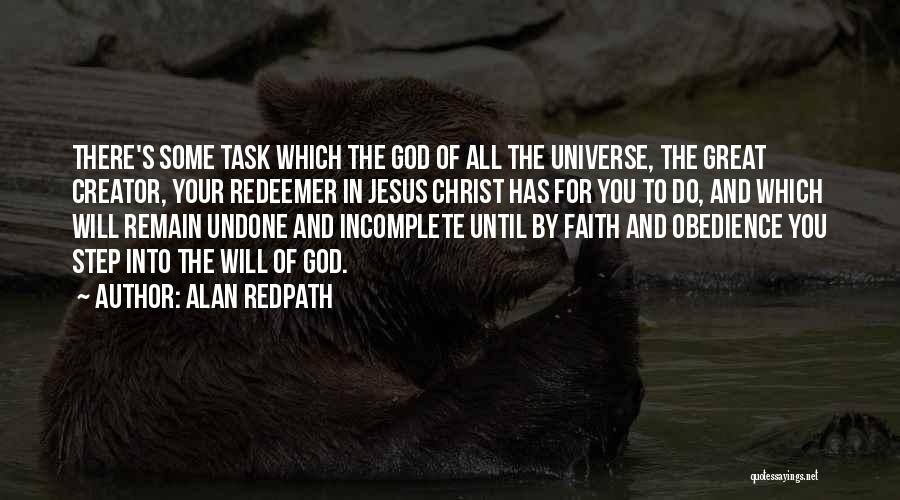 Christ The Redeemer Quotes By Alan Redpath