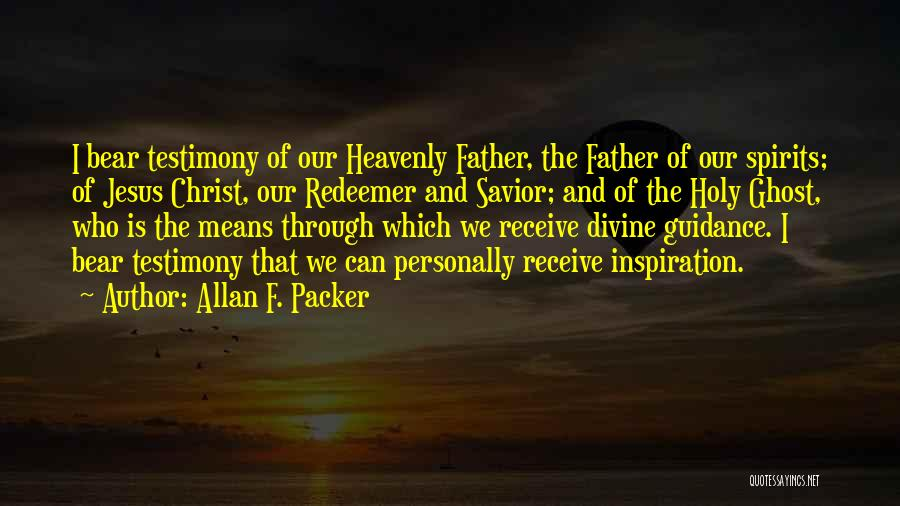 Christ The Redeemer Quotes By Allan F. Packer