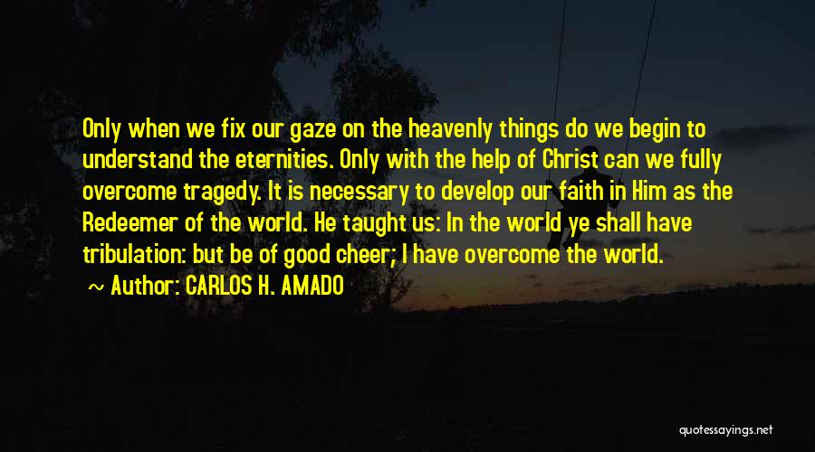 Christ The Redeemer Quotes By CARLOS H. AMADO
