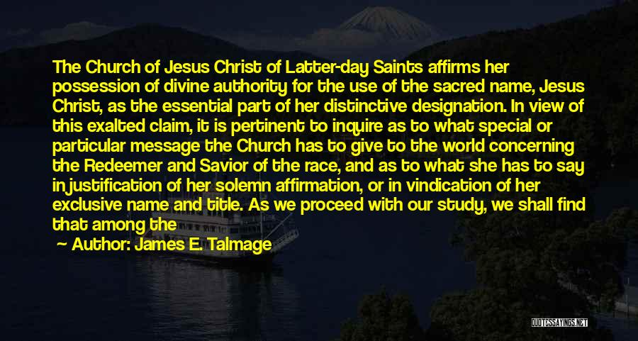 Christ The Redeemer Quotes By James E. Talmage