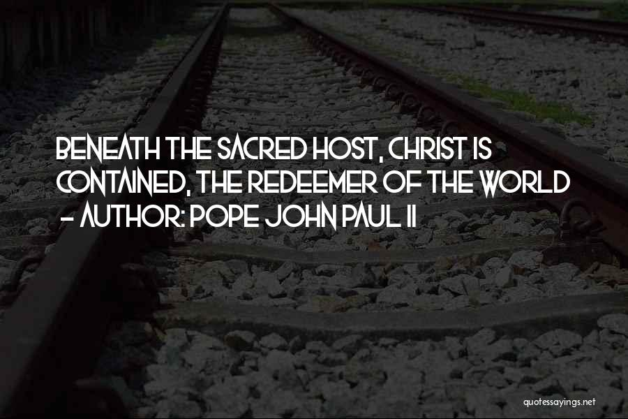 Christ The Redeemer Quotes By Pope John Paul II