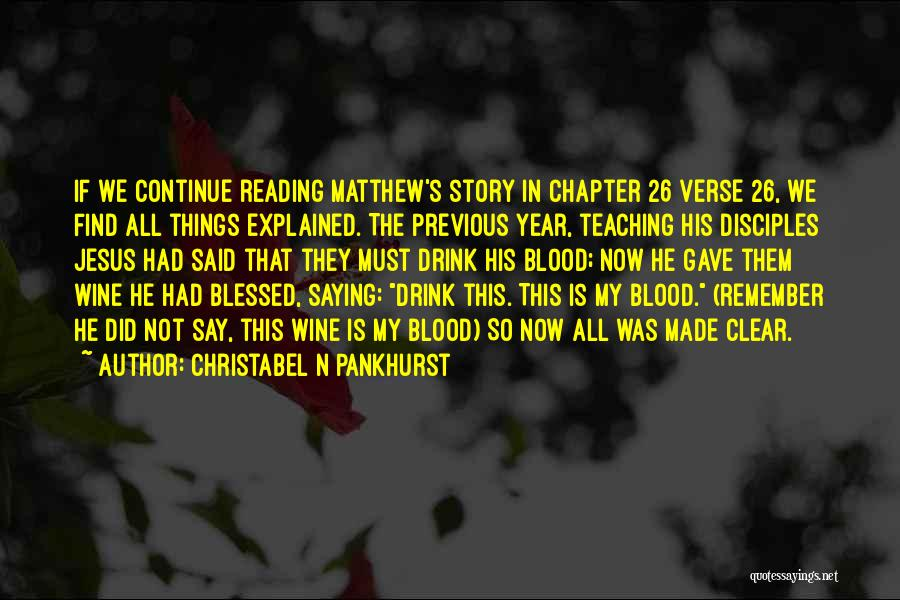 Christabel Quotes By Christabel N Pankhurst