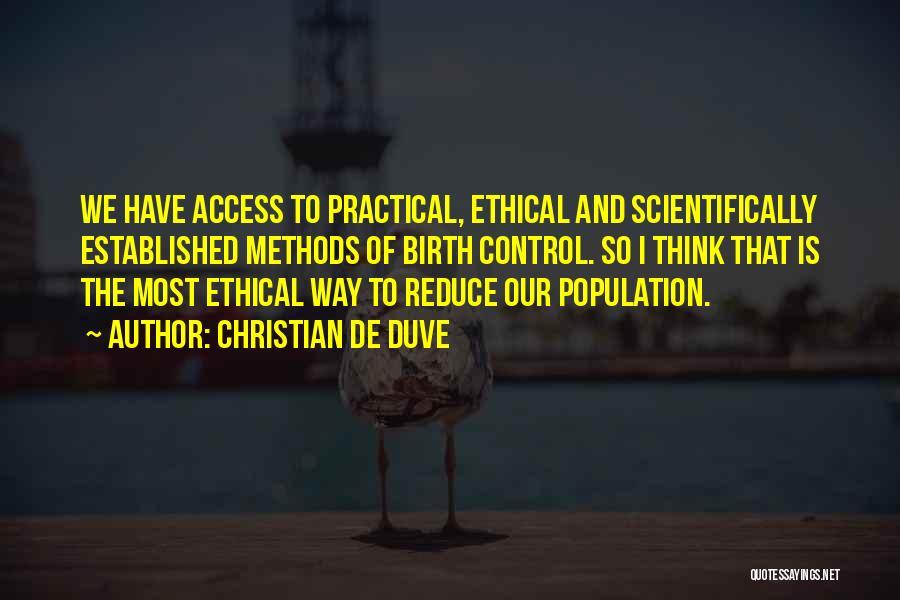 Christian De Duve Quotes 1627676