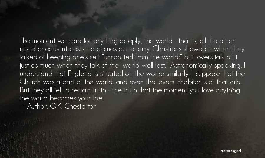 Christian Lovers Quotes By G.K. Chesterton