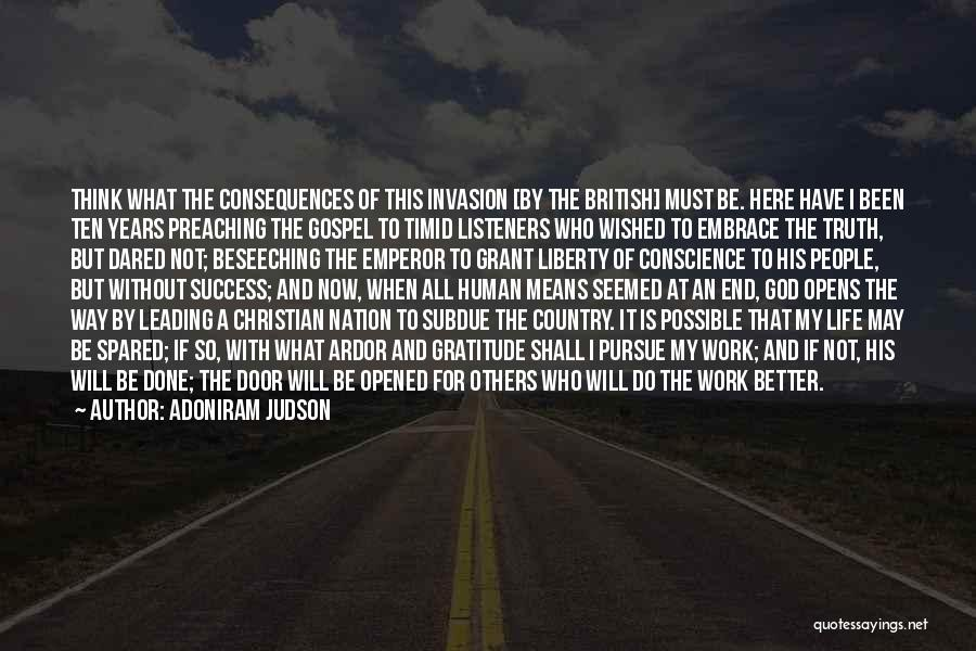 Christian Preaching Quotes By Adoniram Judson