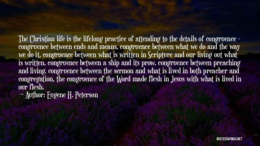 Christian Preaching Quotes By Eugene H. Peterson