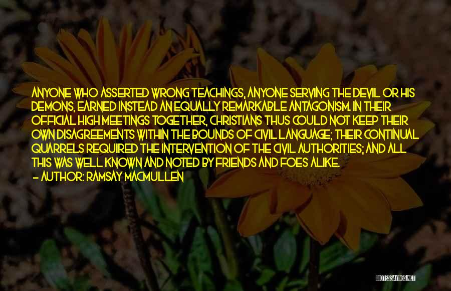 Christian Serving Quotes By Ramsay MacMullen