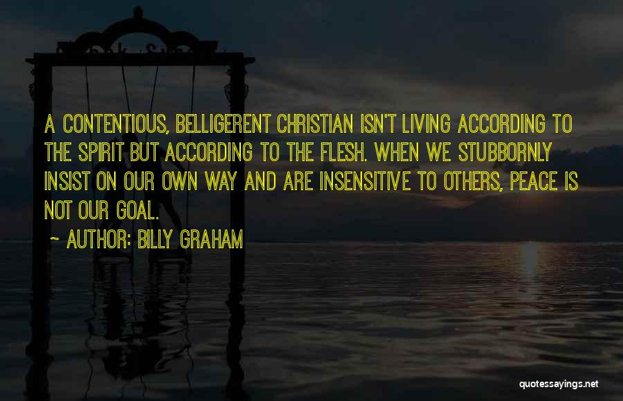 Christianity And Peace Quotes By Billy Graham