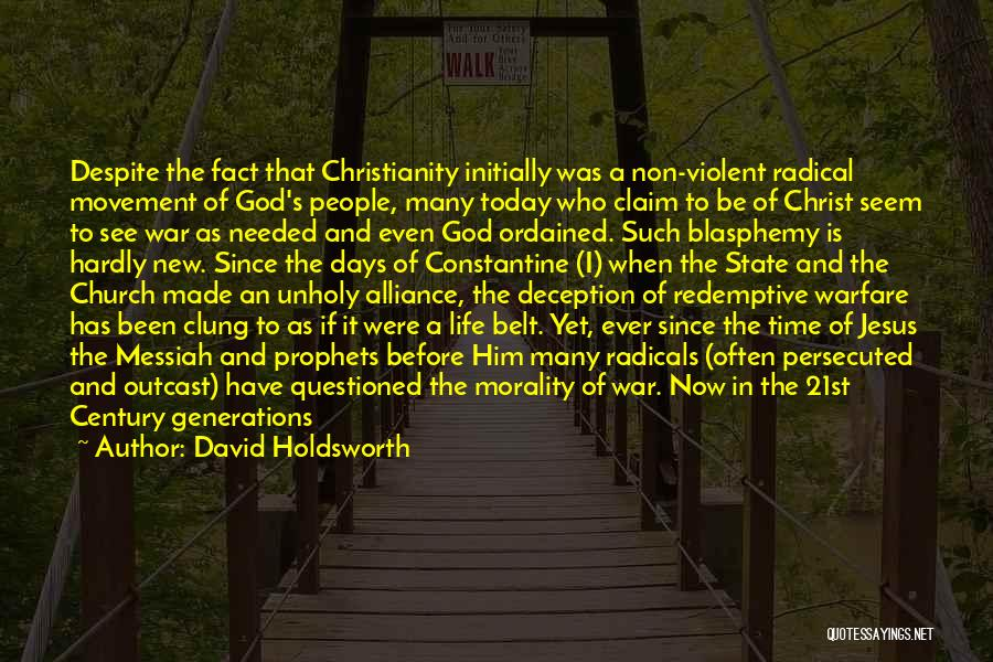 Christianity And Peace Quotes By David Holdsworth