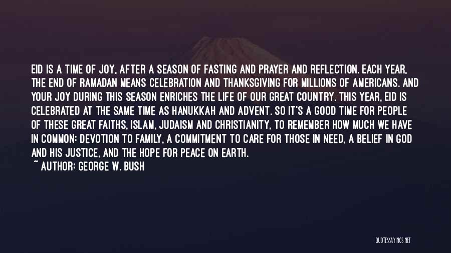 Christianity And Peace Quotes By George W. Bush