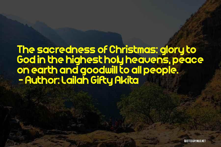 Christianity And Peace Quotes By Lailah Gifty Akita