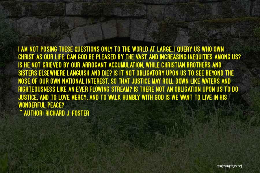 Christianity And Peace Quotes By Richard J. Foster