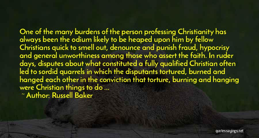 Christianity Intolerance Quotes By Russell Baker