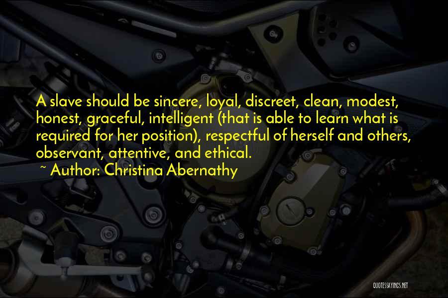Christina Abernathy Quotes 1400682