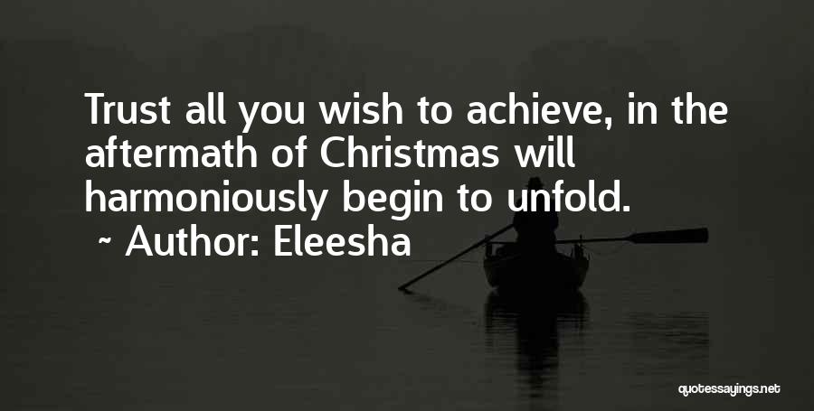 Christmas Aftermath Quotes By Eleesha