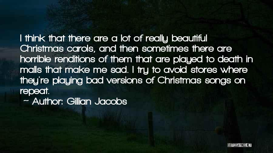 Christmas Songs And Quotes By Gillian Jacobs
