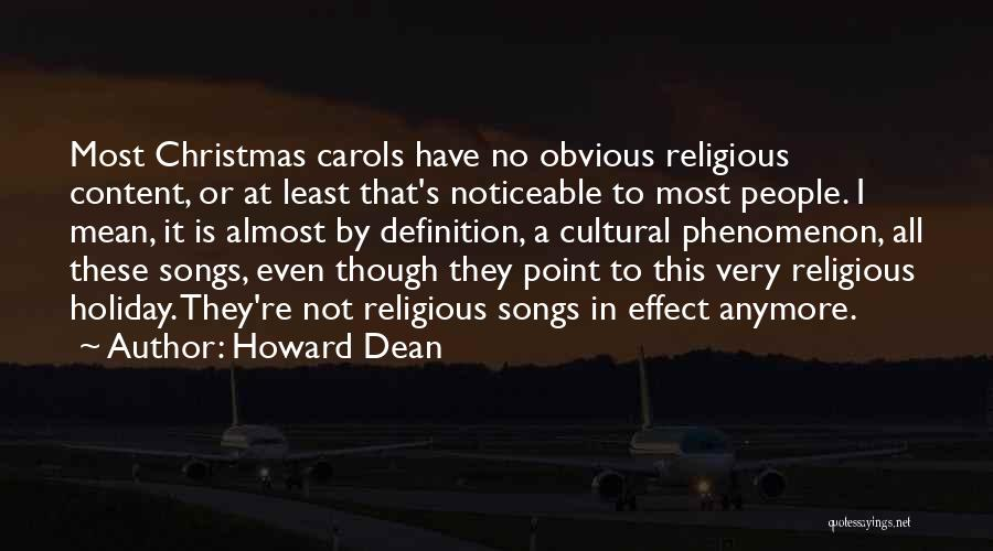 Christmas Songs And Quotes By Howard Dean