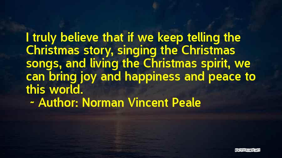 Christmas Songs And Quotes By Norman Vincent Peale