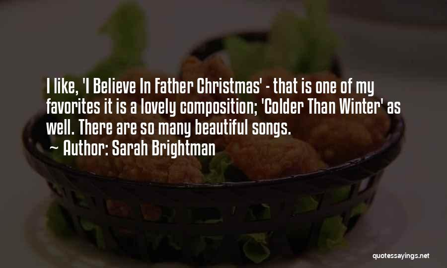 Christmas Songs And Quotes By Sarah Brightman