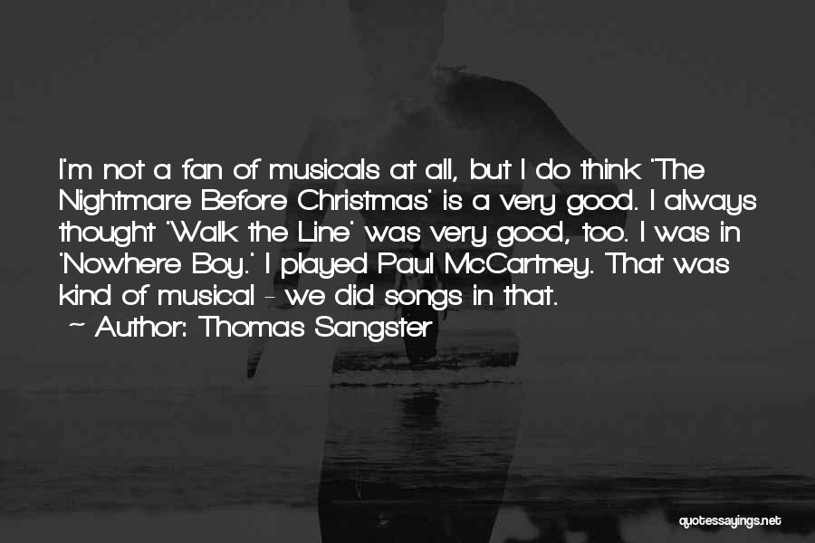 Christmas Songs And Quotes By Thomas Sangster