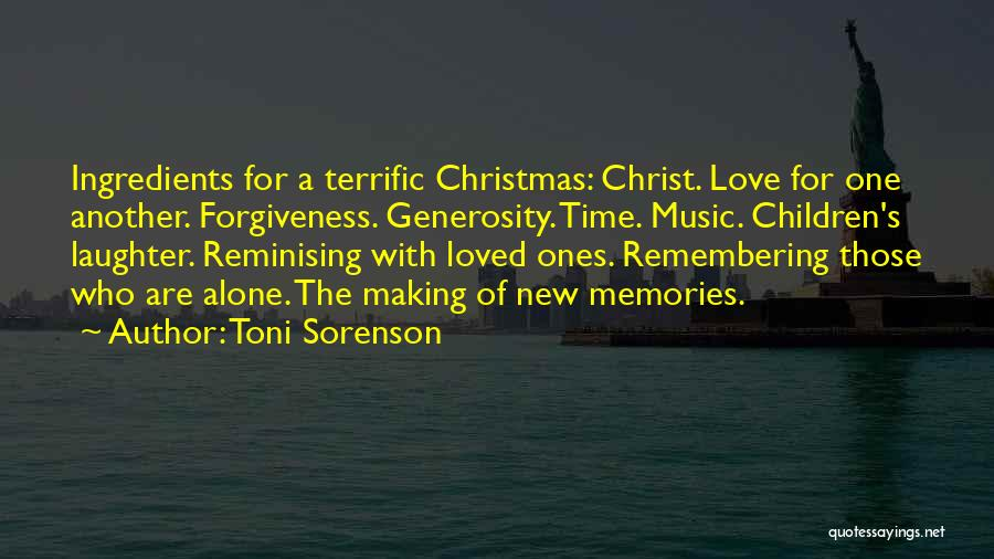 Christmas Time Love Quotes By Toni Sorenson