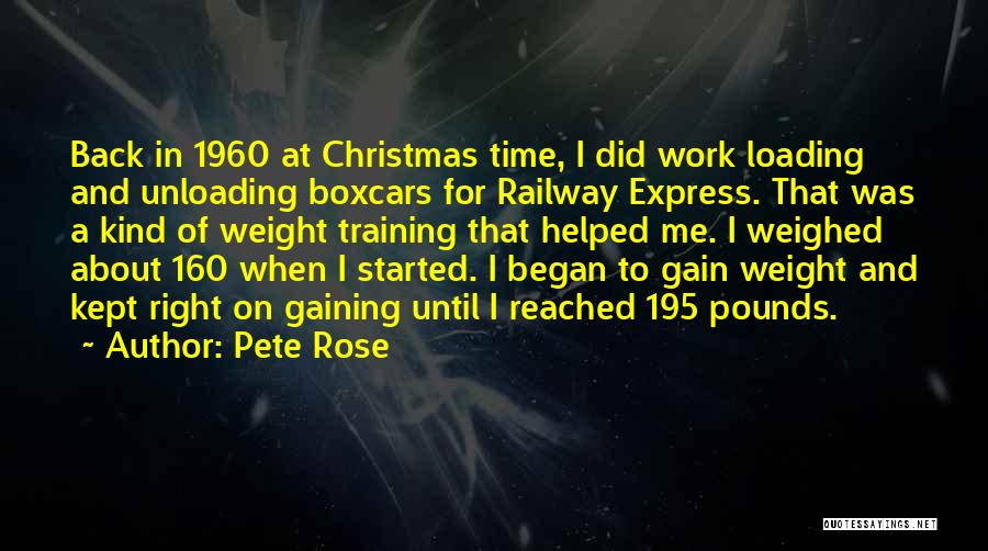 Christmas Weight Gain Quotes By Pete Rose