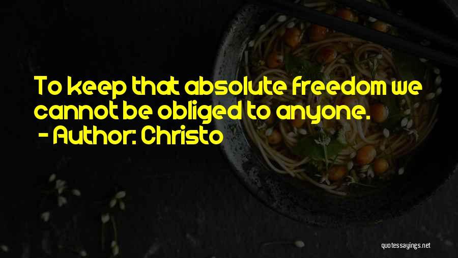 Christo Quotes 189624