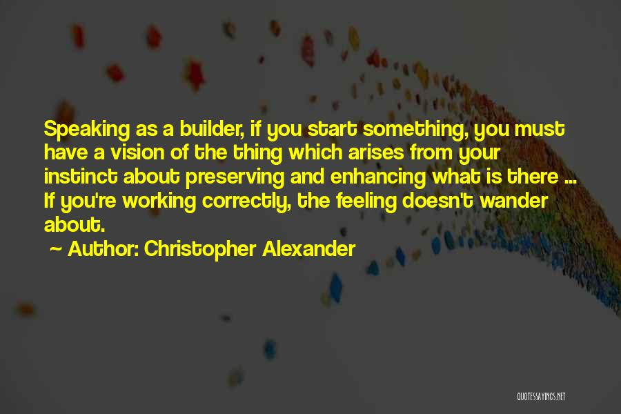 Christopher Alexander Quotes 449292