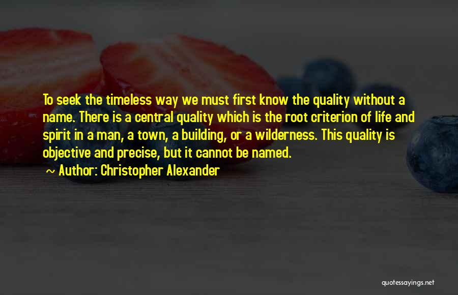 Christopher Alexander Quotes 99590