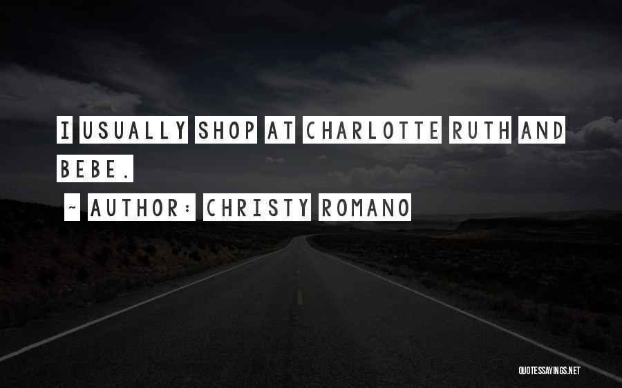 Christy Romano Quotes 343965