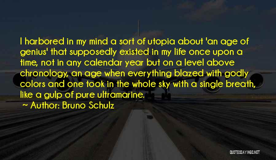 Chronology Quotes By Bruno Schulz