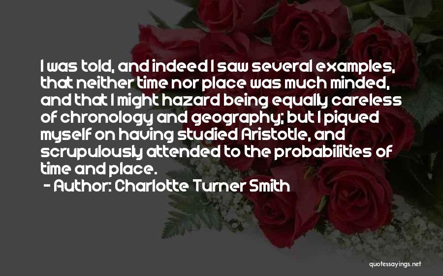 Chronology Quotes By Charlotte Turner Smith